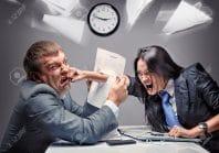employés en conflit